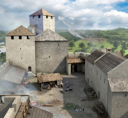 Rekonstruktion Schloss Habsburg, Joe Rohrer, Luzern