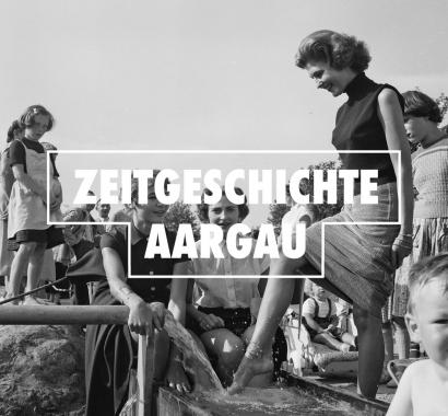 Erste Fassung der Thermalquelle in Zurzach 1955. ETH Bildarchiv Com_M04-0361-0006