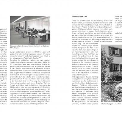 Kantonsgeschichte Solothurn Doppelseite Arbeitswelten