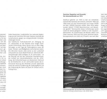 Kantonsgeschichte Solothurn Doppelseite Landschaft