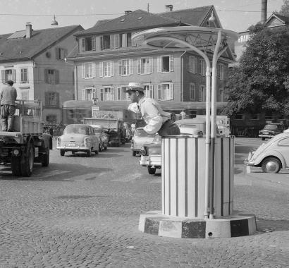 Baden Schulhausplatz 1950er Jahre