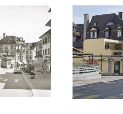 Wohlen Zeitsprünge Bildvergleich Obere Zentralstrasse