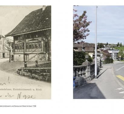 Wohlen Zeitsprünge Bildvergleich Altes Gemeindehaus
