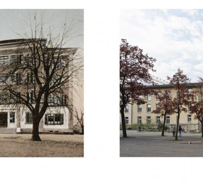 Wohlen Zeitsprünge Bildvergleich Haldenschulhäuser