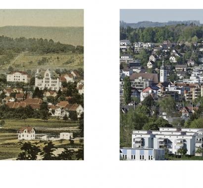 Wohlen Zeitsprünge Bildvergleich Ansicht vom Harzer